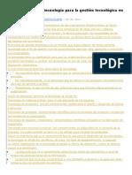 Clasificación de La Tecnología Para La Gestión Tecnológica en La Empresa