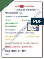 Protocolo de Investigacion Documental