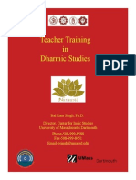 Teacher Training in DharMic Studies