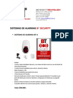 Lista de Precio Sistemas Alarmas Bt Security