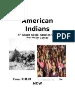 4th grade american indian unit