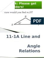 11-1ab line and angle relations and parallel lines