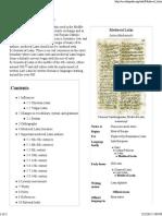 Medieval Latin - Wikipedia, The Free Encyclopedia