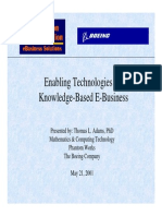Enabling Technologies for Knowloedge Base E-Business