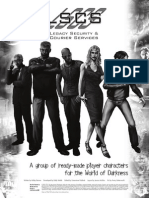 World of Darkness - Legacy Security & Courier Services