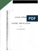 Martini, Catalogo generale dei papiri ercolanesi