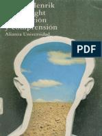 Von Wright - Explicación y Comprensión