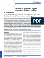 Sub-chronic Exposure to Paraoxon