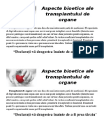 Aspecte Bioetice Ale Transplantului de Organe