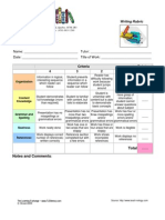 Presentation Rubric Tle Rubric Academic Linguistics
