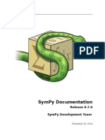 Sympy Docs PDF 0.7.6