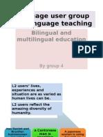 Lang User Groups & Lang Teaching