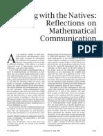 Reflections on Mathematical Communication