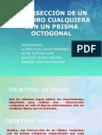Interseccion Cilindro y Prisma Octogonal