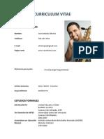 Curriculum Jose Oliveira