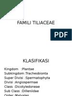 Famili Tiliaceae