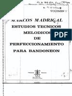 Estudios Tecnicos y Melodicos de Perfeccionamiento Para Bandoneon
