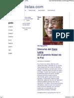 Discurso Del Dalai Lama en El Premio Del Nobel de La Paz