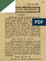 El Redactor del Senado. N° 1 al 4. (1823)