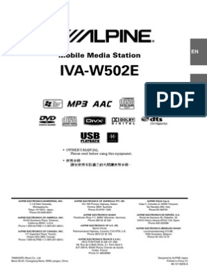 OM IVA-W502E pdf | Compact Disc | Mp3