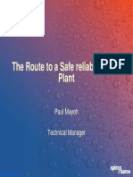The Route to a Safe Reliable Steam Plant