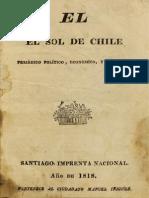El Sol de Chile. Periódico político, económico, y literario. N° 1 al 7 (1818 – 1819)