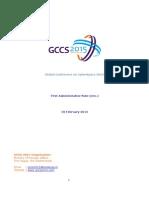 GCCS 2015 Admin Note Update