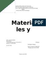 materiales y ensayo