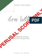 Ara Batur COMPLETE (Perusal Score) - David Vickerman, Arr.