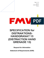 SPECIFICATION for DISTRAKTIONS-HANDGRANAT 13