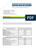 Calculos Fuerzas Que Se Oponen Al Movimiento Excel (Recuperado)