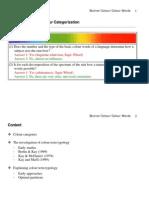 Colour Words and Colour Categorization