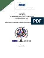 Informe OSCE España 2014
