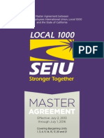 2013 Master Agreement SEIU1000