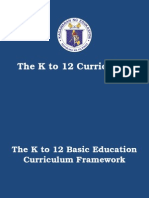 The K to 12 Curriculum