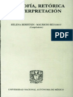 Beristain Helena - Filosofía, retórica e interpretación