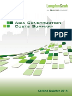 Asia Construction Costs Summary 2q2014