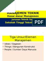 Dasar - dasar manajemen teknik