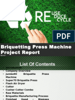 Briquetting Press Machine Project Report