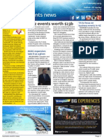 Business Events News for Mon 23 Feb 2015 - Biz events worth $23b, TA to focus on business events in NZ, AIME launches new direction for 2015, ACC wins Dreamtime 2015, and much more