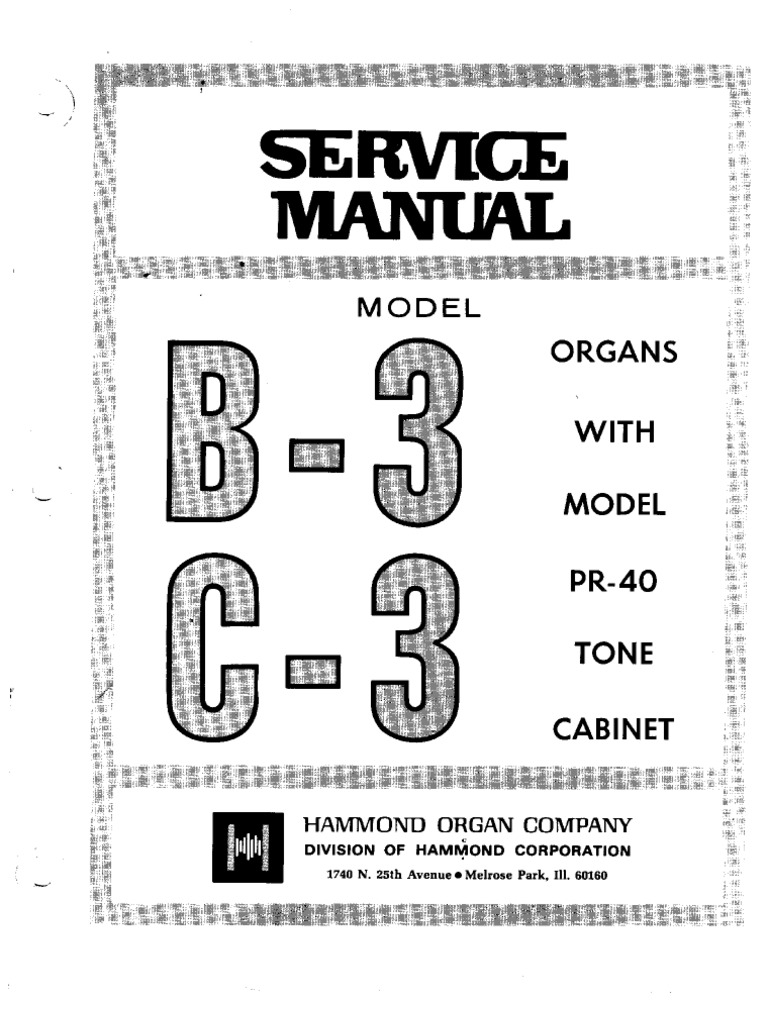 Hammond Organ b3-c3 Service Manual