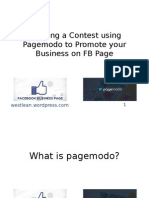 Creating a Contest using PageModo to Promote your FB Page.pptx