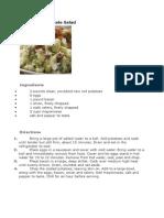Red Skinned Potato Salad (Recipe)