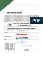 Bill of Material DCS Equipment List MC-DC-I-80-I001