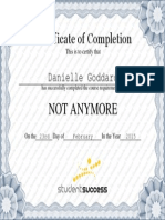 not anymore certificate of completion