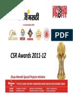 CSR Awards 2012-13