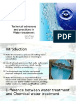 Technical Advances and Practices in Water Treatment