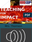 Teaching for Impact