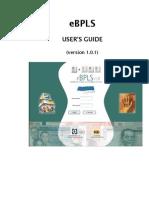 EBPLS User Guide