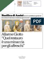 Assisi, allarme Giotto